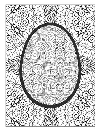 1st Page Easter Egg Coloring Book