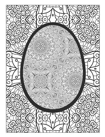 2nd Page image from Easter Egg Coloring book