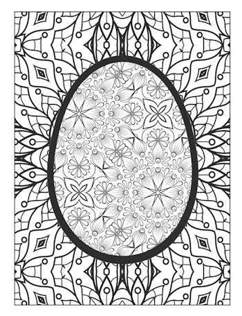3rd Page of the Easter Egg Coloring Book