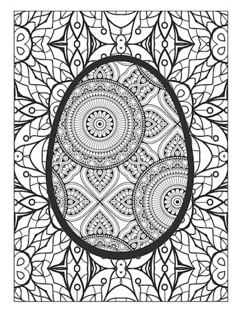 4th Page Image of the Easter Egg Coloring Book