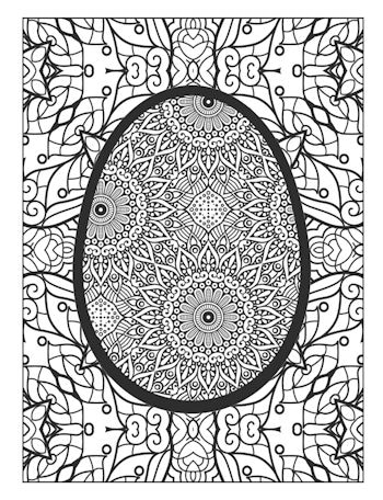 5th Page image of the Easter Egg Coloring Book