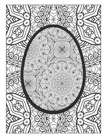 6th Page image from Easter Egg Coloring book