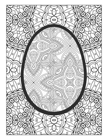 7th page image from Easter Egg Coloring Book