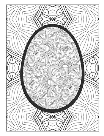 8th page image from Easter Egg Coloring Book