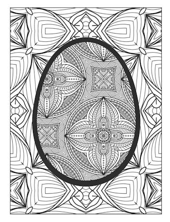 9th Page image from Easter Egg Coloring Book