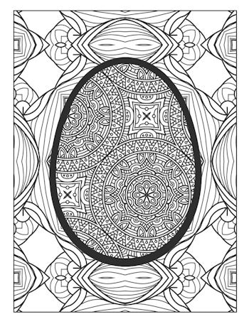 Page 11th image from Easter Egg Coloring Book