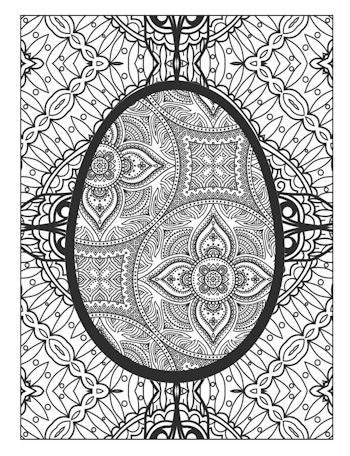 page 13 image from Easter Egg Coloring Book