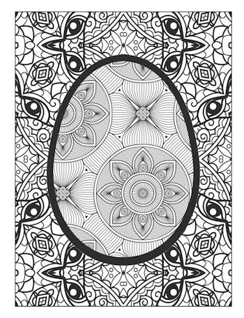 page 16 image from Easter Egg Coloring Book