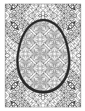 page 17 image from Easter Egg Coloring Book