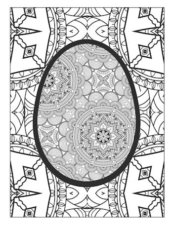 page 19 image from Easter Egg Coloring Book