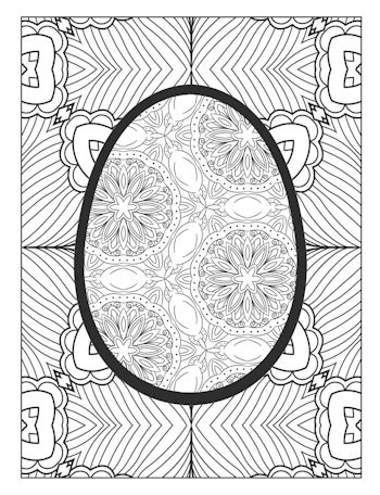 page 21 image from Easter Egg Coloring Book
