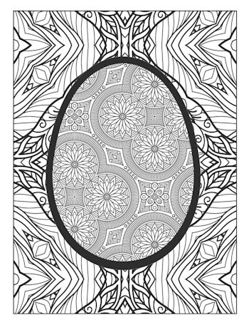 page 22 image from Easter Egg Coloring Book