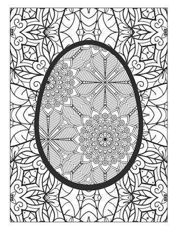 page 24 image from Easter Egg Coloring Book