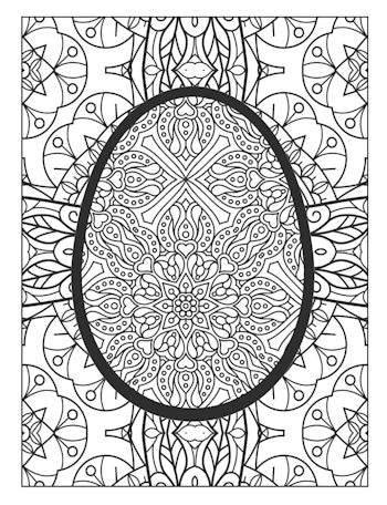 page 25 image from Easter Egg Coloring Book