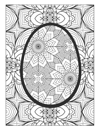 page 28 image from Easter Egg Coloring Book