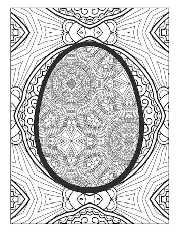 page 29 image from Easter Egg Coloring Book