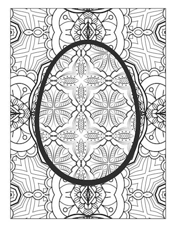 page 30 image from Easter Egg Coloring Book