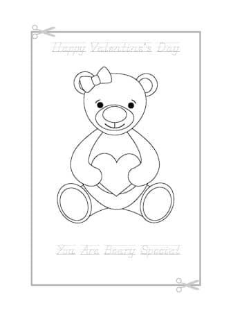 Be My Valentine Coloring Page 1