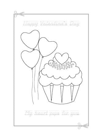 Be My Valentine Coloring Page 10