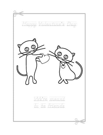 Be My Valentine Coloring Page 11