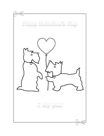 Be My Valentine Coloring Page 12