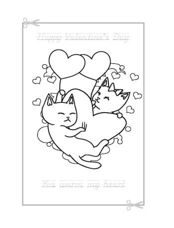 Be My Valentine Coloring Page 13