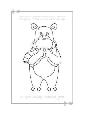 Be My Valentine Coloring Page 15