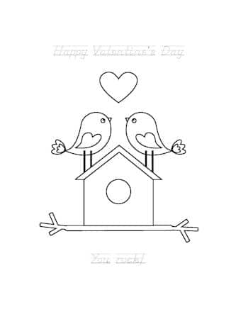Be My Valentine Coloring Page 16
