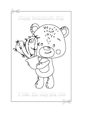 Be My Valentine Coloring Page 17