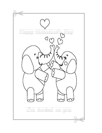 Be My Valentine Coloring Page 19