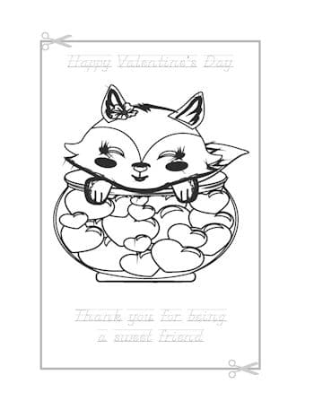 Be My Valentine Coloring Page 2