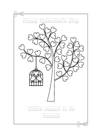Be My Valentine Coloring Page 20