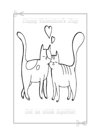 Be My Valentine Coloring Page 3