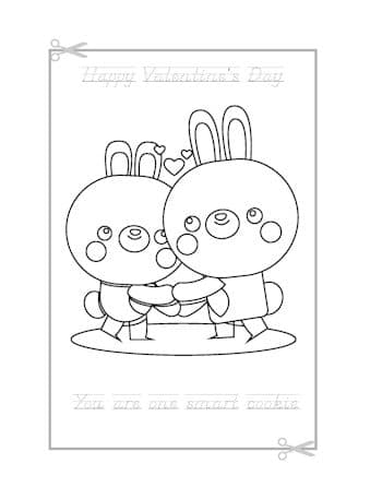 Be My Valentine Coloring Page 4