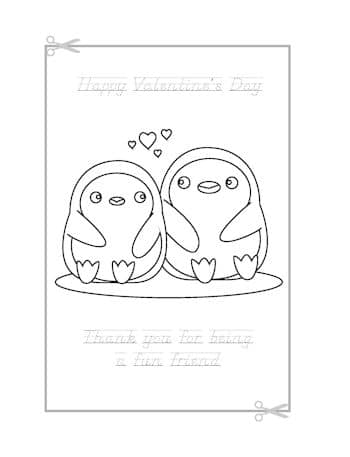 Be My Valentine Coloring Page 5