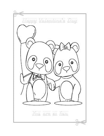 Be My Valentine Coloring Page 6