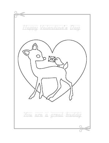 Be My Valentine Coloring Page 7