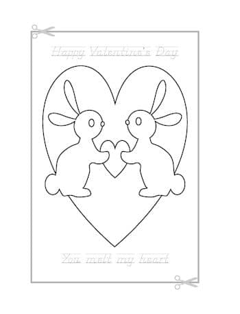 Be My Valentine Coloring Page 9