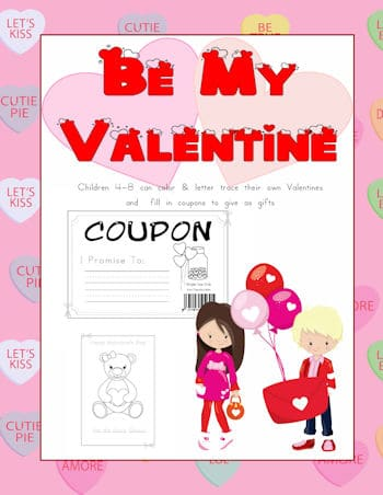 Be My Valentine Front Cover with a boy and girl enjoying Valentine's Day