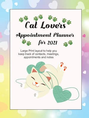 Cat Lovers Appointment Planner for 2021 front cover
