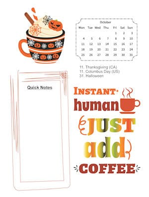 Coffee Lovers October