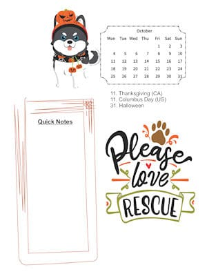 Dog Lovers October