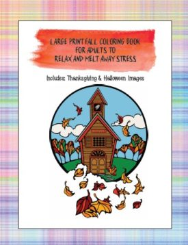 Fall Coloring Book Front Cover