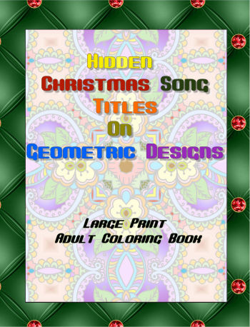 Hidden Christmas Song Titles on Geometric Designs Front Cover