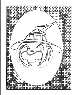 Pumpkin Witch coloring page