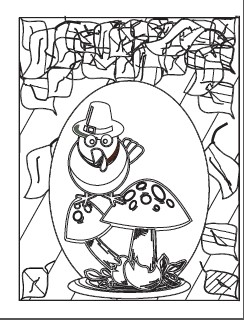 Turkey Pilgrim on Toadstool