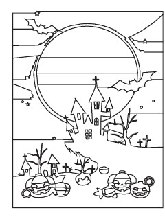 Witch's Castle coloring page sample