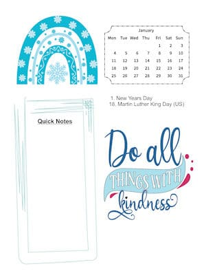 Rainbows of Kindness January