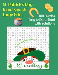 St Patricks Day Word Search Puzzle Book front cover