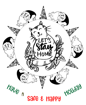 Let's Stay Home Coloring Page Giveaway